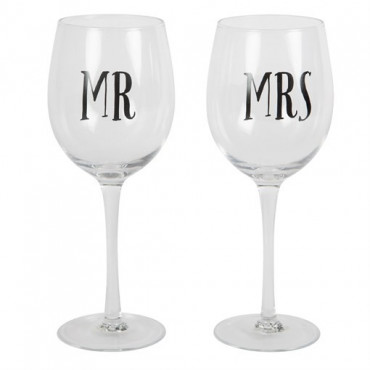 Verre à Vin Mr ou Mrs