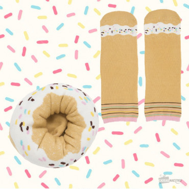Chaussettes Donut Vanille