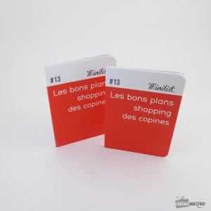 "Carnet Minilist ""Les bons plans shopping des copines"" n°13 face-minilist"