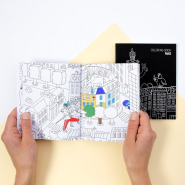 Carnet de Coloriage Paris