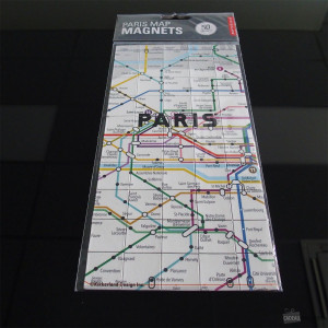Magnets Plan de Métro Paris (x50) Magnets plan Paris