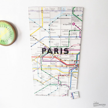 Magnets Plan de Métro Paris (x50) Métro Paris
