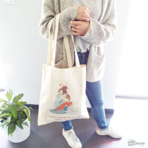 Tote Bag Ma Maman Distributeur de Calins sac