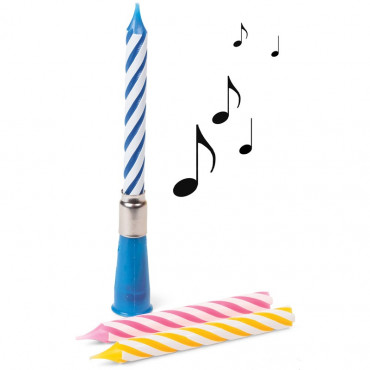Bougie Musicale Happy Birthday (x3)