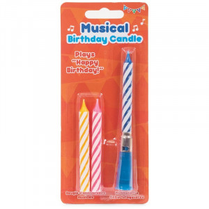 Bougie Musicale Happy Birthday (x3) candle