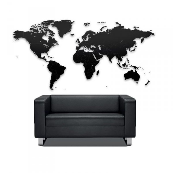 carte du monde noire puzzle xl cadeau maestro. Black Bedroom Furniture Sets. Home Design Ideas