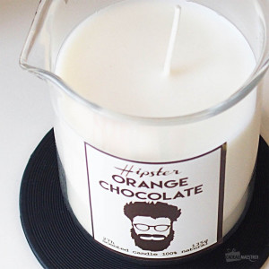 Bougie Hipster Chocolat et Orange barbe
