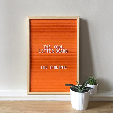 Letter Board M Feutrine 46x31 orange