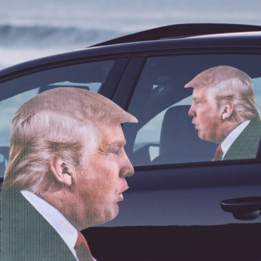 Sticker Automobile Trump