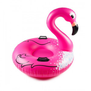 Luge Gonflable Flamant Rose