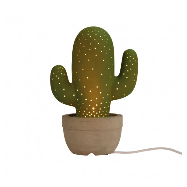 lampe cactus en c ramique cadeau maestro. Black Bedroom Furniture Sets. Home Design Ideas