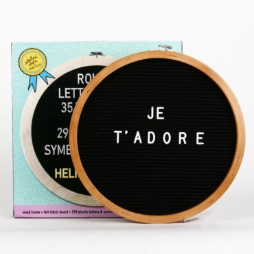 Letter Board Rond 35cm
