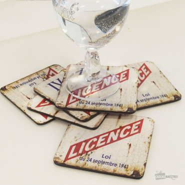 Sous-Verres Licence IV (x6)
