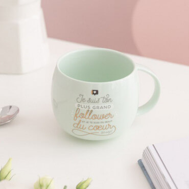 "Mug ""Je Suis Ton Plus Grand Follower"""