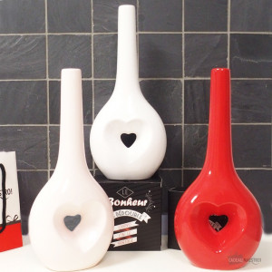 Vase Romantique à Messages LoveVase saint-valentin