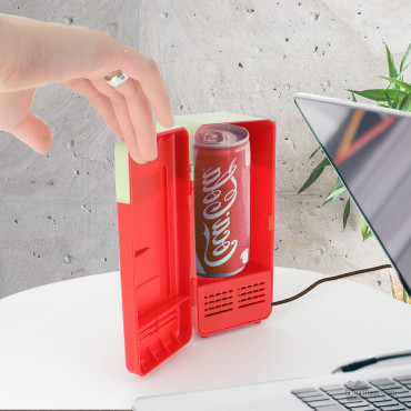Mini Frigo USB Rouge à Canette