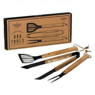 Kit Ustensiles en Bois à Barbecue (x3)