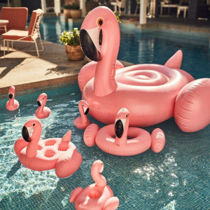 Porte-Boissons Gonflable Flamant Rose Pool Party