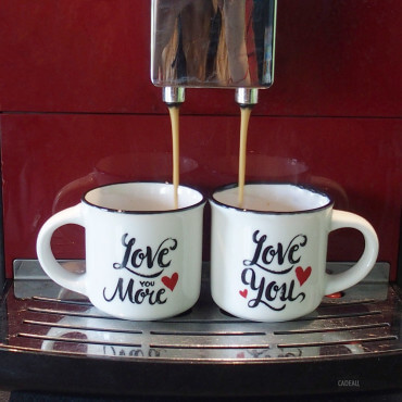 Tasses Expresso Love (x2)