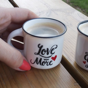 Tasses Expresso Love (x2) Une pause amoureuse