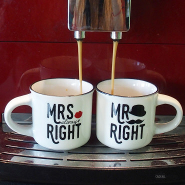 Tasses Expresso Mr et Mme (x2)