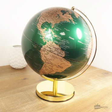 Globe Lumineux Socle Or 30cm