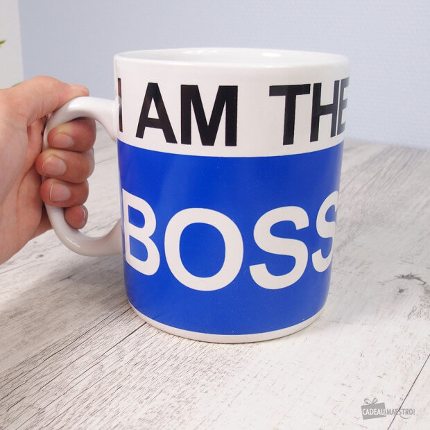 mug g ant i am the boss cadeau maestro. Black Bedroom Furniture Sets. Home Design Ideas