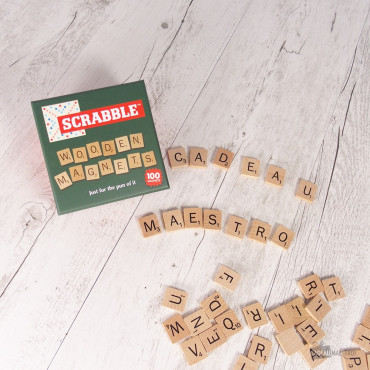 Magnets en Bois Scrabble (x100)