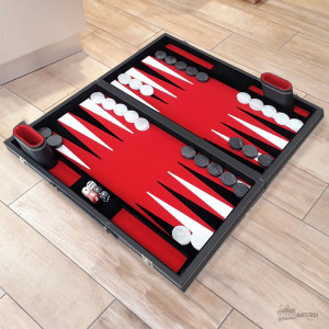 Backgammon Deluxe Mallette Similicuir