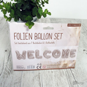"""Ballons Lettres Argentées """"Welcome"""""""