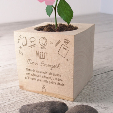 Ecocube Rose Merci Maîtresse à Personnaliser