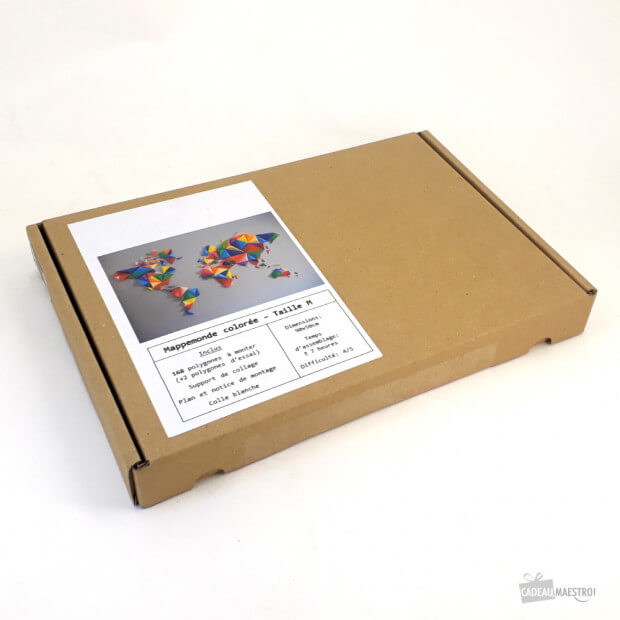 Mappemonde 3d Multicolore 90 X 50 cm DIY
