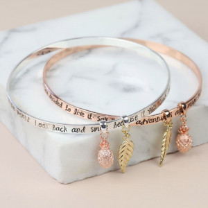 """Bracelet Argent """"Say Yes to Adventure"""""""