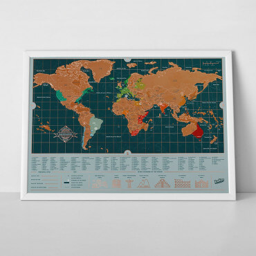 Carte du Monde à Gratter Edition Routard