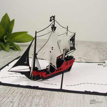 Carte Pop-Up 3D Bateau Pirate