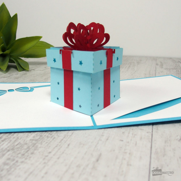 Carte Pop-Up 3D Cadeau