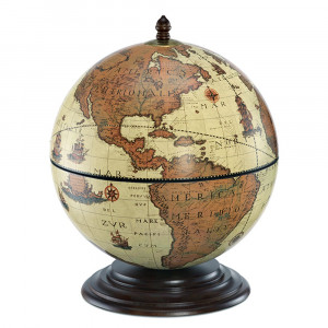 Globe Bar Safari 40cm en Bois
