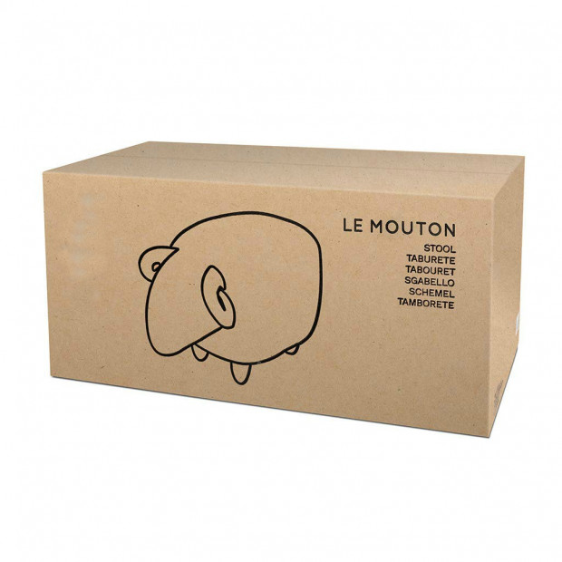 Tabouret Mouton Blanc Packaging