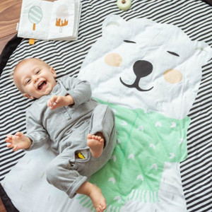 Sac Tapis de Jeu Play and Go Ours Polaire Moelleux