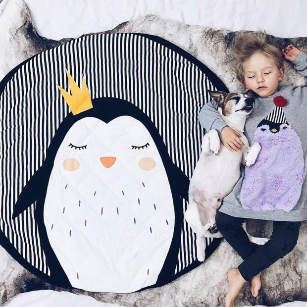 Sac Tapis de Jeu Play and Go Pingouin Sieste