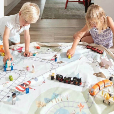 Sac Tapis de Jeu Play and Go Petit Train
