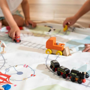 Sac Tapis de Jeu Play and Go Petit Train Enfants