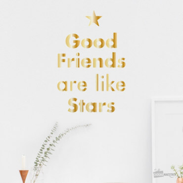 "Sticker ""Good Friends are Like Stars"""