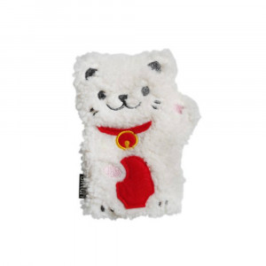 Chauffe-Mains Lucky Cat Micro-Ondable en Polyester