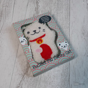 Chaufferette de Poche Lucky Cat Micro-Ondable Packaging