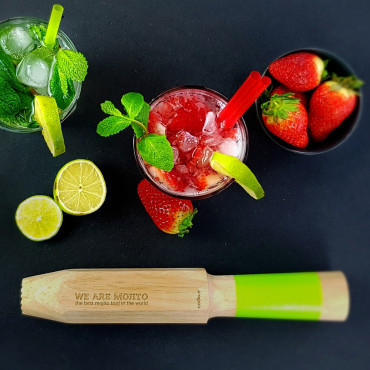 "Pilon ""We Are Mojito"" avec Verres (x4)"