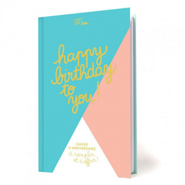"Livre d'Anniversaire ""Happy Birthday to You"""