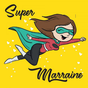 "Carte de Voeux 2.0 ""Super Marraine"""