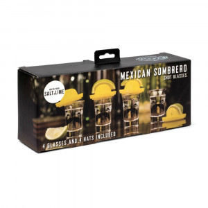 Shooters Tequila Frappée Sombrero Mexicain (x4) Packaging