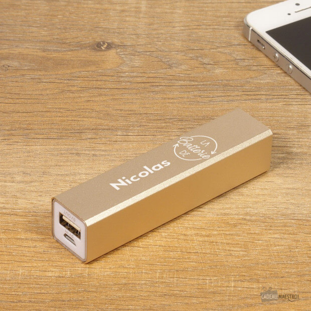 Batterie USB Gold à Personnaliser